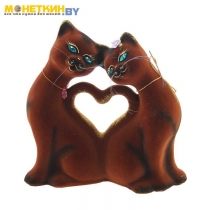 Копилка «Кошки Сердце» коричневый