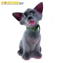 Копилка «Кошка чистюля» серый