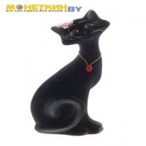Копилка «Кот Маркиз» средний черный