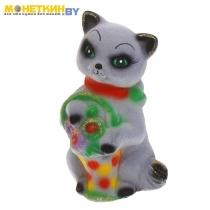 Копилка «Кошка с корзинкой» цвета