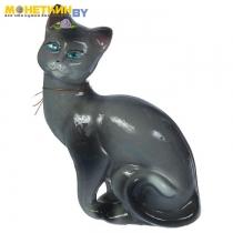 Копилка «Кошка Шарлотта» глянец серый
