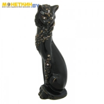 Копилка «Кошка с Ожерельем» глазурь черная