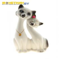 Копилка «Коты Пара Свидание» белый