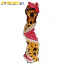 Копилка «Екатерина в шляпе» глянец желто – леопардовый