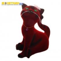 Копилка «Кошка Анфиса» бордовый