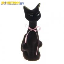 Копилка «Кошка Геша» черный