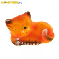 Копилка «Котенок сонник» персиковая поддувка