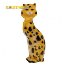 Копилка «Кошка Матильда» глянец задувка леопард