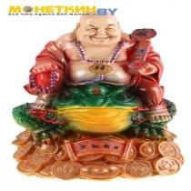 Копилка «Будда на жабе» цветной
