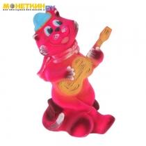 Копилка «Кот с гитарой» розовый