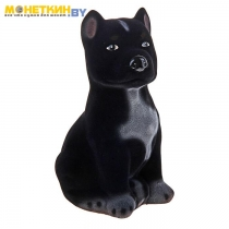 Копилка «Собака Питбуль» малый черный