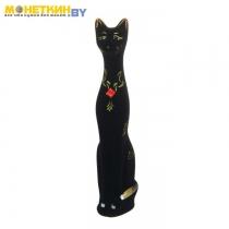 Копилка «Кот» средний черный, узор