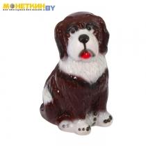 Копилка «Собака Бетховен» глянец коричневый