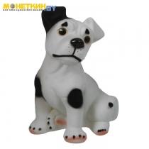 Копилка «Собака Рэкс» черно – белый