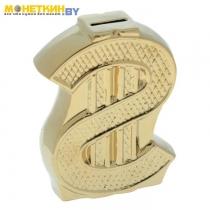Копилка «Доллар» золото