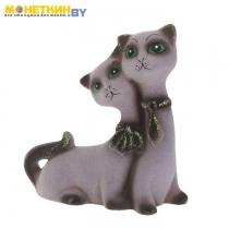 Копилка «Котята галстук» серый