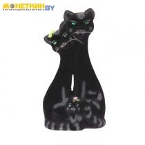 Копилка «Коты семья» черная