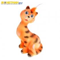 Копилка «Кошка молодая» персик – полосатый
