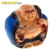 Копилка «Будда с мешком» синяя