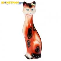 Копилка «Кошка Камила» средняя глянец леопардово – оранжевый