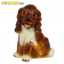 Копилка «Собака Спаниэль большой» глянец коричневый