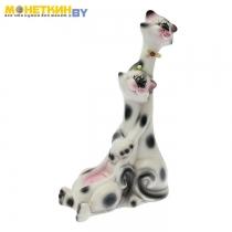 Копилка «Коты жирафчики» глянец белый
