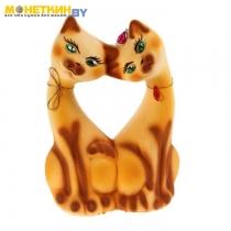 Копилка «Коты Поцелуй» желтый