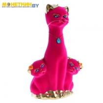 Копилка «Кошка с Котятами» булат розовый