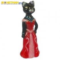 Копилка «Кошка Миледи» большая глянец черный