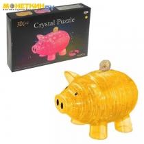 Пазл 3D «Свинка – копилка», 94 детали