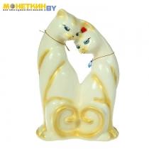 Копилка «Коты любовь» глянец белый