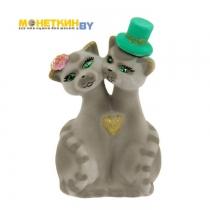 Копилка «Коты Жених и Невеста» серые