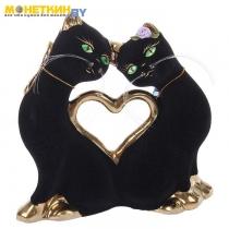 Копилка «Кошки Сердце» булат черный малые
