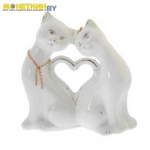 Копилка «Кошки Сердце» глянец белая