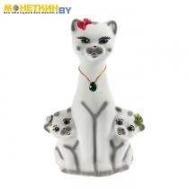 Копилка «Кошка с Котятами» белая