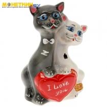 Копилка «Кот» сердце