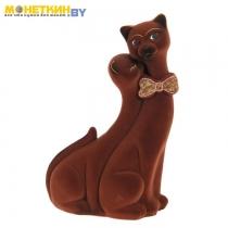 Копилка «Коты Пара Лакки» коричневый