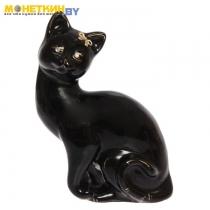 Копилка Кошка»Шарлота», глазурь черная