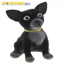 Копилка «Собака Чихуахуа» большая черный