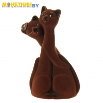 Копилка «Коты пара грация» коричневвый