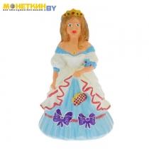 Копилка «Принцесса» голубая