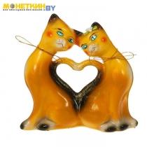 Копилка «Коты сердце» глянец рыжая