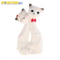 Копилка «Кот Семья» белый