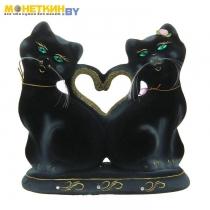 Копилка «Коты Сердце» черный