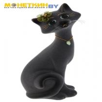 Копилка «Кот Маркиз» средний темно – серый