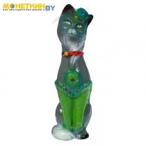 Копилка «Кошка Мишель» малая глянец серо – зеленый