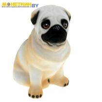 Копилка «Собака Мопс» белый
