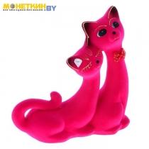 Копилка «Кошки Сладкая пара» розовый