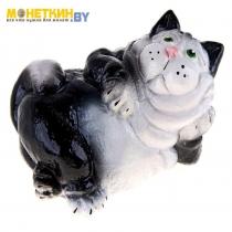 Копилка «Кот лежа» черный