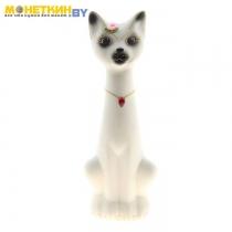 Копилка «Кот Мурзик» малый белый
